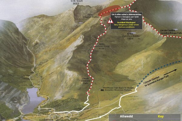 Llwybr Llanberis Path Map APCE SNPA 0