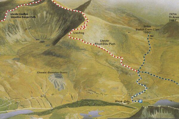 Llwybr Rhyd Ddu Path Map APCE SNPA
